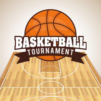 Canvas print Basketball design