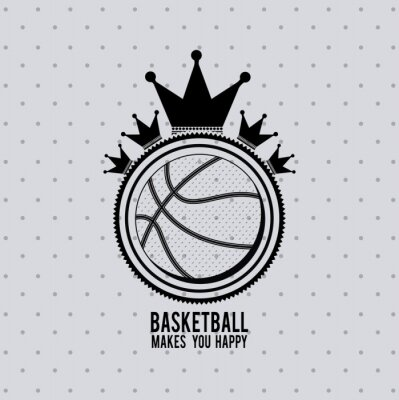 Canvas print basketball league design