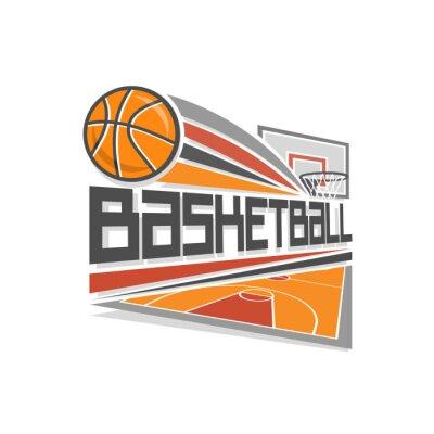 Canvas print Basketball logo