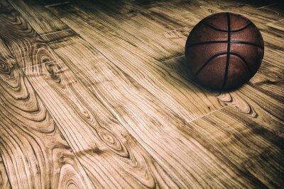 Canvas print Basketball on Hardwood 2