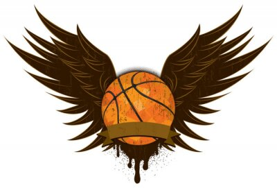 Canvas print Basketball wings