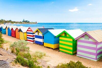 Canvas print Bathing boxes at Brighton Beach, Australia