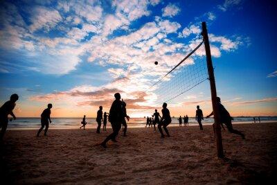 Canvas print Beach volleyball