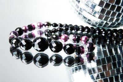 Canvas print Bead with disco ball on mirror