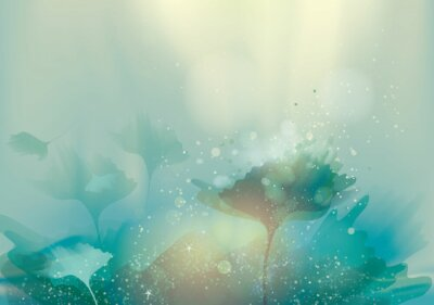 Canvas print Beautiful abstract landscape / Magic floral background