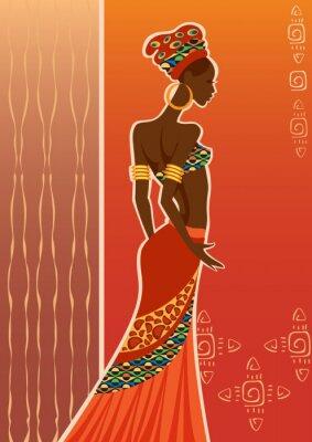Canvas print  Beautiful black woman.African woman.