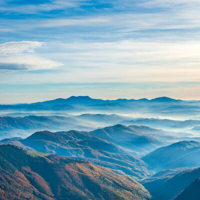 Canvas print Beautiful blue mountains and hills