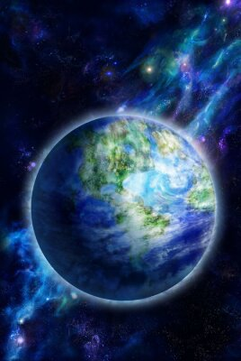 Canvas print Beautiful Earth is in space
