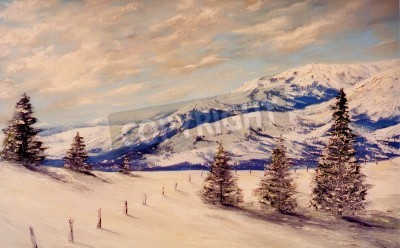 Beautiful Image of a Original Landscape Oil Painting on canvas