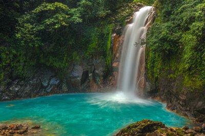 Canvas print Beautiful Rio Celeste Waterfall