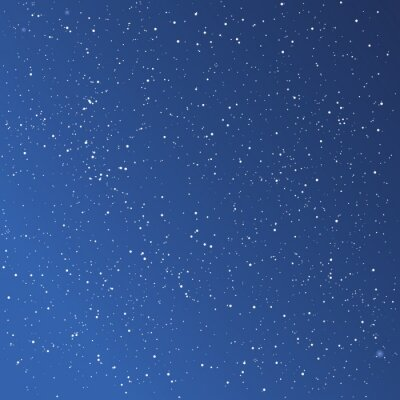 Canvas print Beautiful starry sky background