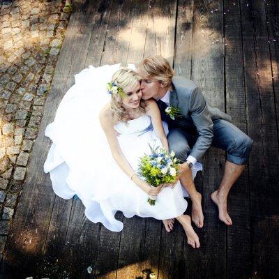 Canvas print Beautiful wedding couple