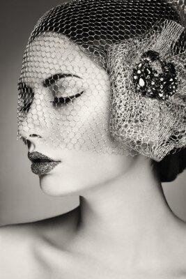 Canvas print Beautiful woman face. Perfect makeup