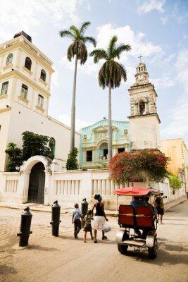 Canvas print Belen Convent, Havana
