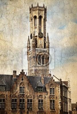 Canvas print Belfry of Bruges, Belgium