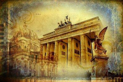 Canvas print Berlin art design illustration