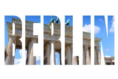 Canvas print Berlin city name