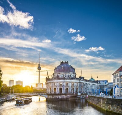 Canvas print Berlin, Germany Scene at Museum Island