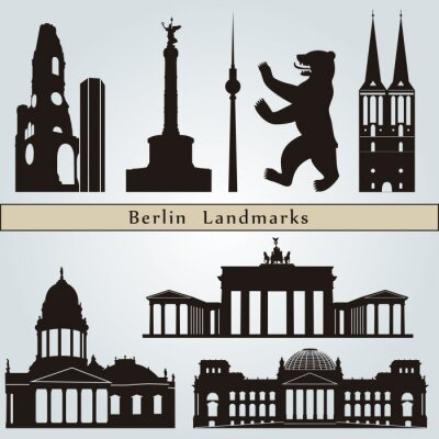 Canvas print Berlin landmarks and monuments