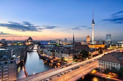 Canvas print Berlin Skyline Panorama