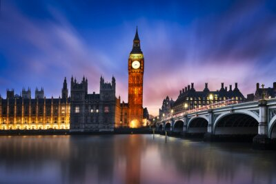 Canvas print Big Ben and House of Parliament