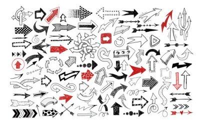 Big collection of doodle sketch arrows.