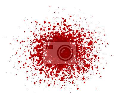 Big red grunge splash on white background