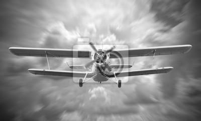 Canvas print Biplane