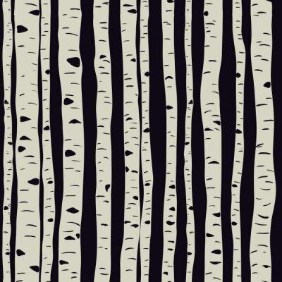 Canvas print Birches in vector