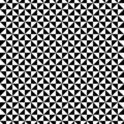 Canvas print Black and White triangle pattern
