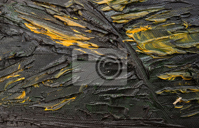 black and yellow oil painting texture background abstract