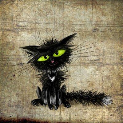 Canvas print Black cat