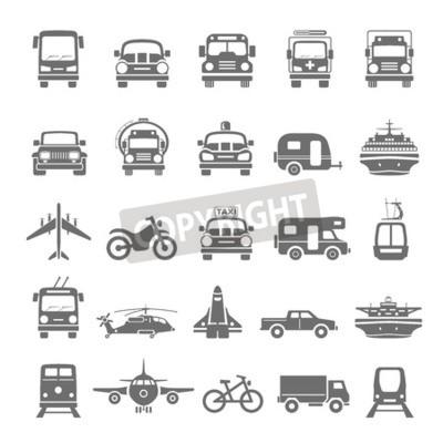 Canvas print Black Icons  Transportation