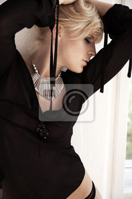Blonde seductive model