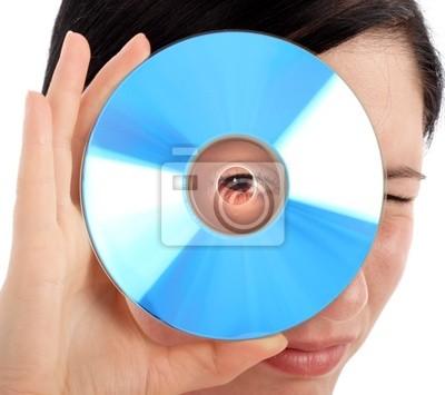 Canvas print blue cd