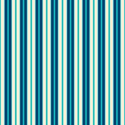 Canvas print Blue Lines Pattern