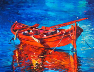 Canvas print Boat