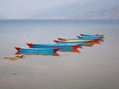 Canvas print Boats on Lake Fewa