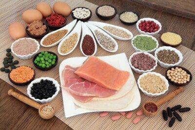 Canvas print Body Building Diet food
