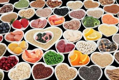 Canvas print Body Building Health Foods