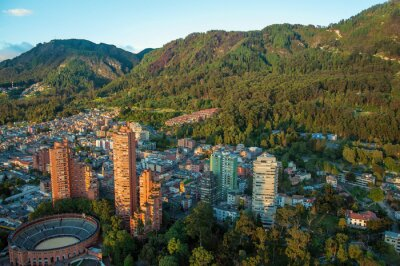 Canvas print Bogota and the Andes Mountains