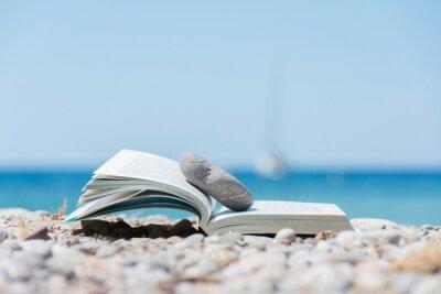 Canvas print Book on the beach