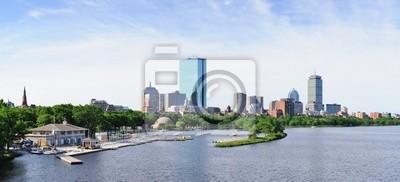 Boston city skyline panorama