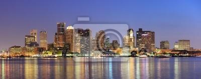 Boston downtown urban skyline
