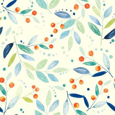 Canvas print Botanical seamless pattern