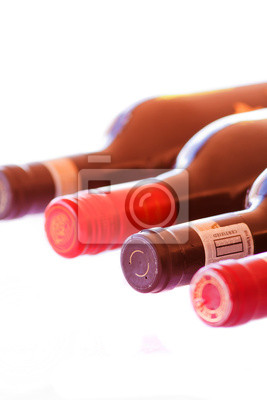 Bottles of red wine isolated
