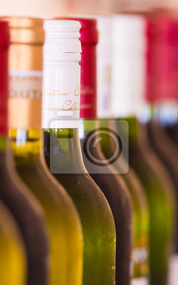 Canvas print Bottles of wine