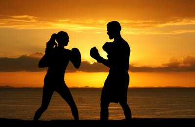 Canvas print Boxing