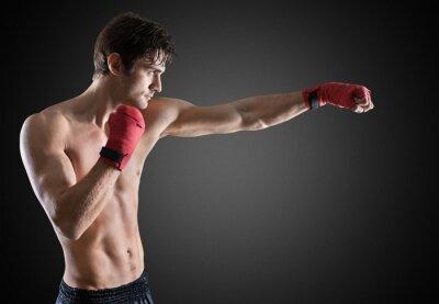 Canvas print Boxing.