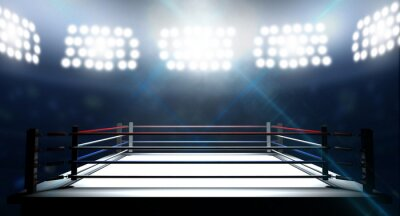 Canvas print Boxing Ring In Arena
